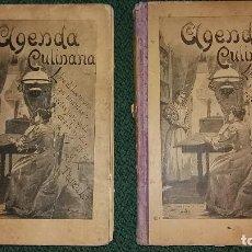 Libros antiguos: AGENDA CULINARIA AÑOS 1901-1902 POR LA DUQUESA LAURA CON RECETAS DIARIAS 392 PÀGINAS CADA UNO. Lote 135530318