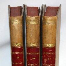 Libros antiguos: CONSTITUTIONS Y ALTRES DRETS DE CATHALUNYA 1704 - CONSTITUCIÓ DE CATALUNYA CONSTITUCIÓN CATALUÑA 1ED. Lote 135704739