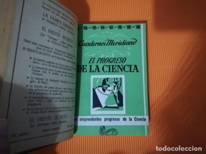 Libros antiguos: CUADERNOS MERIDIANO (ASTRONOMIA, CIENCIA, MUNDO SUBMARINO, ANIMALES) - Foto 4 - 135728983