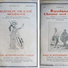 Libros antiguos: HIERSEMANN, KARL W. KATALOG 553 BIS KATALOG 556. 1925.. Lote 135778446