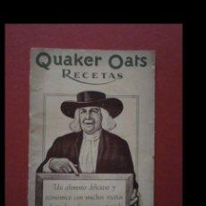 Libros antiguos: QUAKER OATS. RECETAS. Lote 135830186