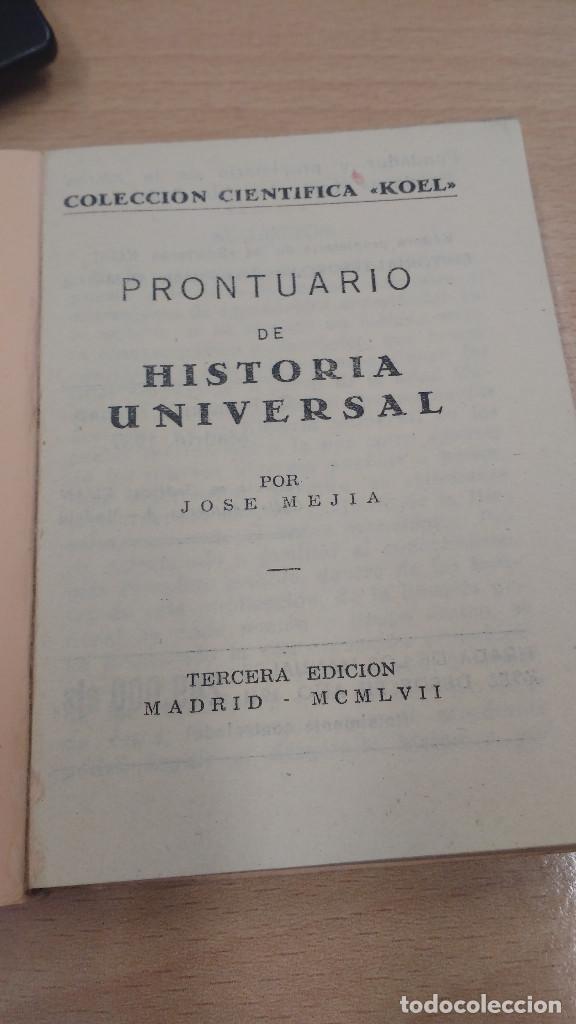 Libros antiguos: mini libro Koel historia universal. 1957. - Foto 2 - 135871542