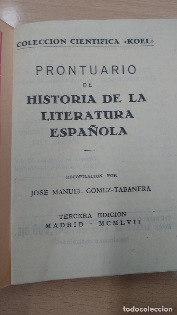 Libros antiguos: mini libro Koel. historia de la literatura española nº 16. años 1957. - Foto 2 - 135874818