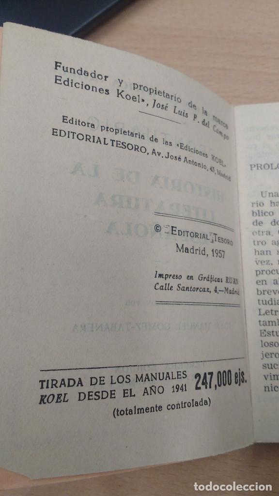 Libros antiguos: mini libro Koel. historia de la literatura española nº 16. años 1957. - Foto 3 - 135874818