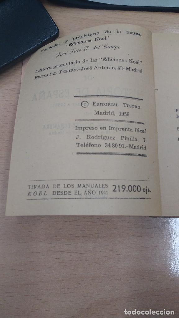 Libros antiguos: MINI LIBRO KOEL . HISTORIA DE ESPAÑA Nº 10. AÑO 1956. - Foto 3 - 135876510