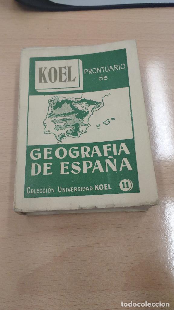 MINI LIBRO KOEL GEOGRAFIA DE ESPAÑA. AÑO 1959 (Libros Antiguos, Raros y Curiosos - Historia - Otros)