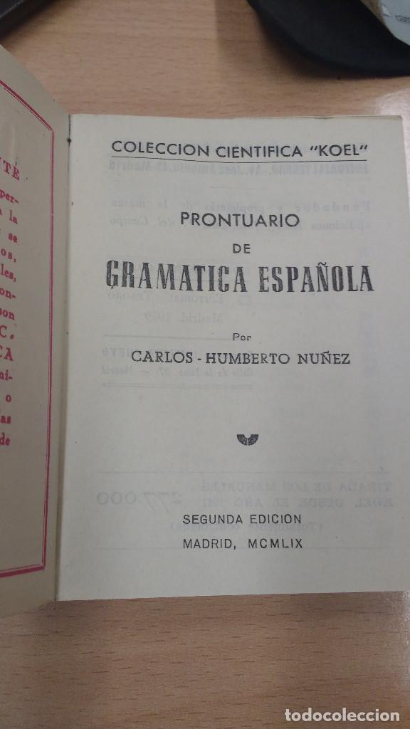 Libros antiguos: MINI LIBRO KOEL. GRAMÁTICA ESPAÑOLA Nº 31. AÑO 1959. - Foto 2 - 135879386