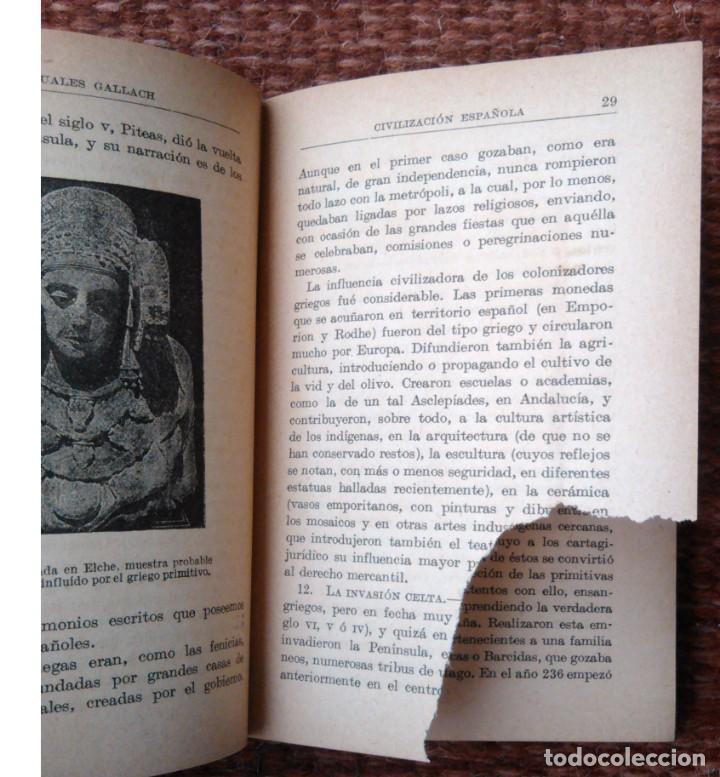 Libros antiguos: historia de la civilizacion española - manuales gallach - 1925 - Foto 3 - 136010750