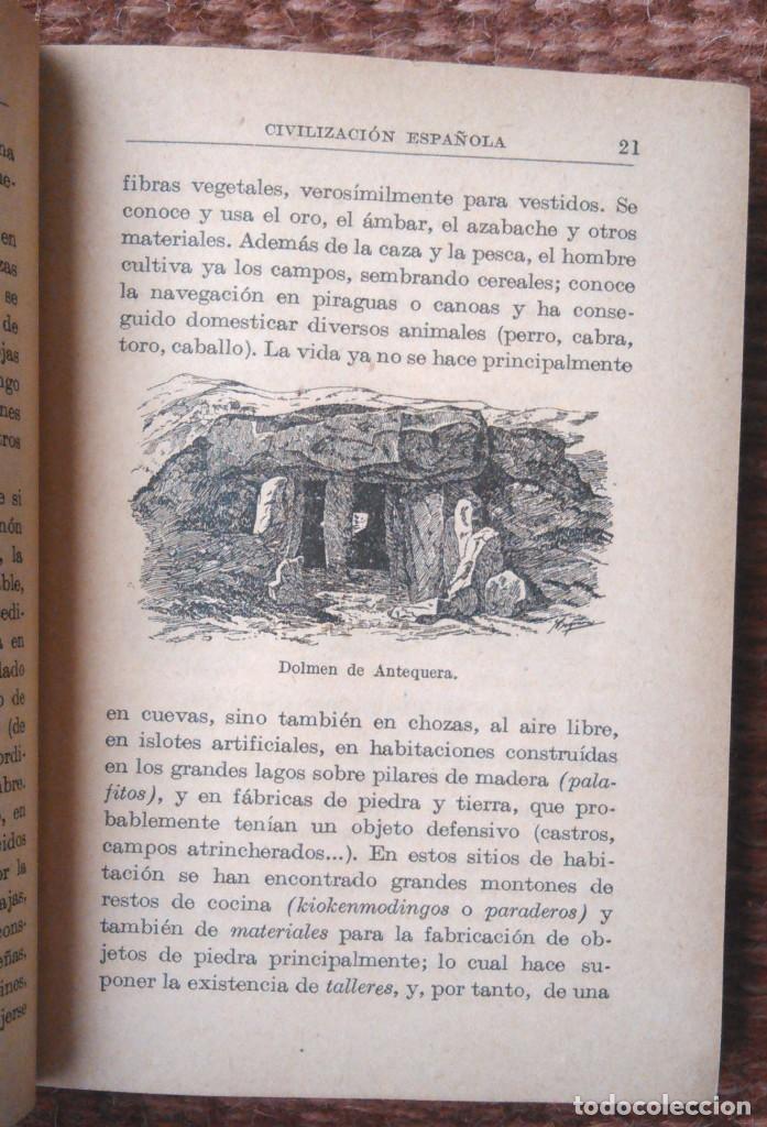 Libros antiguos: historia de la civilizacion española - manuales gallach - 1925 - Foto 4 - 136010750