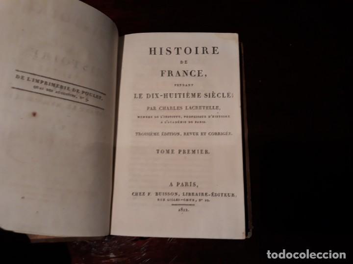 Libros antiguos: HISTOIRE DE FRANCE - PAR CHARLES LACRETELLE .TOME PREMIER PARIS AÑO 1812 - Foto 2 - 136045122