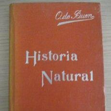 Libros antiguos: MANUALES SOLER. Nº 2. HISTORIA NATURAL, NOCIONES PRELIMINARES. ODÓN DE BUEN. BARCELONA. Lote 136050294