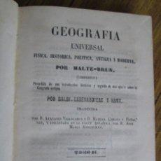 Libros antiguos: GEOGRAFÍA UNIVERSAL - FÍSICA, HISTORIA, POLÍTICA, ANTIGUA Y MODERNA POR MALTE BRUN TM 2 MADRID 1850. Lote 136066194