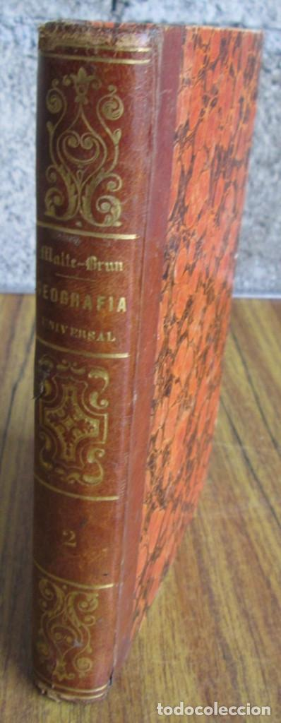 Libros antiguos: GEOGRAFÍA UNIVERSAL - Física, historia, política, antigua y moderna Por Malte Brun Tm 2 Madrid 1850 - Foto 10 - 136066194