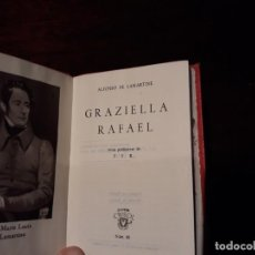 Libros antiguos: AGUILAR - CRISOL Nº 60 - ALPHONSE LAMARTINE - GRAZIELLA - RAFAEL . 1º EDICION 1944. Lote 136098562