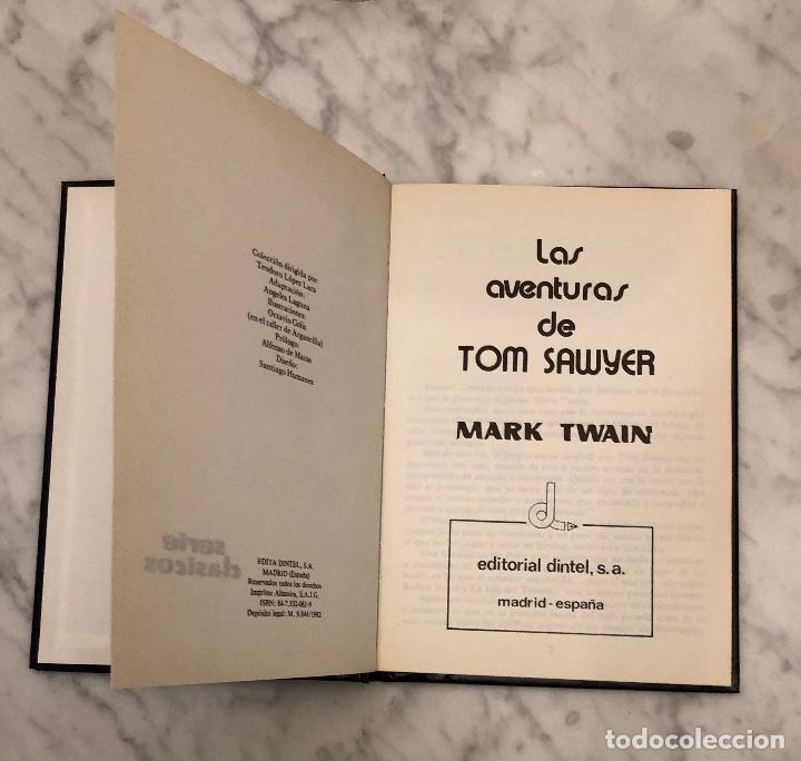 Libros antiguos: LIBROS DE AVENTURAS 6 (48€)(8€/Und)-TOMO4-Las aventuras de TomSawyer-MarkTwain(8€) - Foto 3 - 136206250