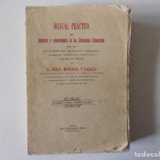 Libros antiguos: LIBRERIA GHOTICA.JUAN MORROS. MANUAL PRACTICO DE INSPECCIÓN DE LAS SUBSTANCIAS ALIMENTICIAS.1880.. Lote 136255626