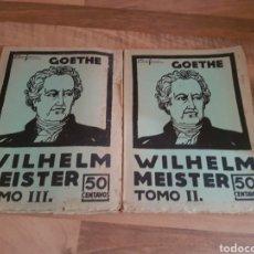 Libros antiguos: GOETHE TOMO 2 Y 3. Lote 136268146