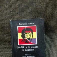 Libros antiguos: PIC NIC EL TRICICLO (EL LABERINTO) EDICIONES ANGEL BERENGUER. Lote 136350978