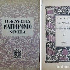 Old books - WELLS, H. G. Matrimonio. 1930. - 136365302
