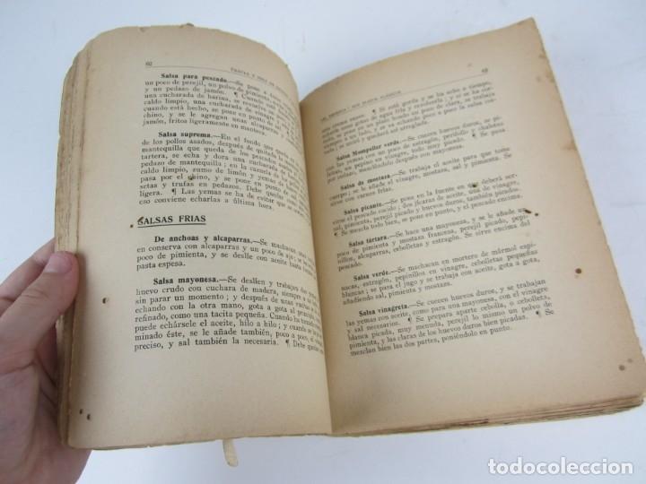 Libros antiguos: El amparo sus platos clásicos, 1930, Azcaray y Eguileor, 2ª edición, Bilbao. 16x21cm - Foto 4 - 136365310