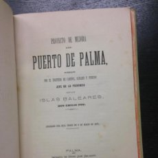 Libros antiguos: PUERTO DE PALMA, POU, EMILIO, 1871. Lote 136381082