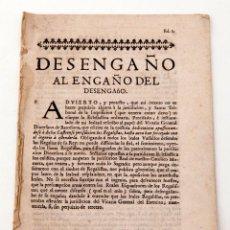 Libros antiguos: DESENGAÑO AL ENGAÑO DEL DESENGAÑO. Lote 136382642
