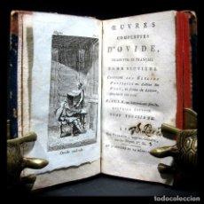 Libros antiguos: AÑO 1796 OVIDIO PÓNTICAS 2 TOMOS EN 1 VOLUMEN FRONTISPICIO Y GRABADOS ANTIGUA ROMA. Lote 136447342
