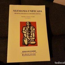 Libros antiguos: ALEMANIA UNIFICADA SISTEMA POLÍTICO CONSTITUCIONAL. Lote 136518082