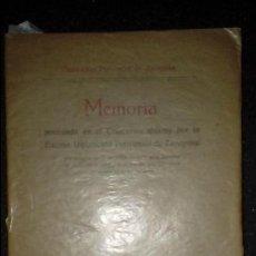 Libros antiguos: MEMORIA PREMIADA POR LA DIPUTACIÓN DE ZARAGOZA. D. FRANCISCO PASCUAL DE QUINTO.. Lote 136538094