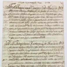 Libros antiguos: [MANUSCRITO. ORDEN DE SAN JUAN DE JERUSALÉN.] [NOMBRAMIENTO DE COMENDADOR. ENCOMIENDA DE VILLALBA.]. Lote 136605366