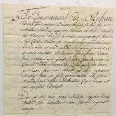 Libros antiguos: [MANUSCRITO. ORDEN DE SAN JUAN DE JERUSALÉN.] [ENCOMIENDA DE TORTOSA.] MALTA, 1796.. Lote 136605842