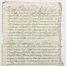 Libros antiguos: [MANUSCRITO. ORDEN DE SAN JUAN DE JERUSALÉN.] [CONCESIÓN DE LA BARONÍA DE RENAU, EN LA ENCOMIENDA DE. Lote 136606402