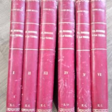 Libros antiguos: EL HOMBRE Y LA TIERRA - ELÍSEO RECLUS - 6 TOMOS COMPLETA - CASA EDITORIAL MAUCCI Y ESCUELA MODERNA. Lote 136633954