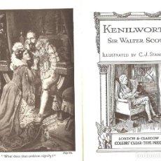 Libros antiguos: SIR WALTER SCOTT. KENIL-WORTH. Lote 136643062