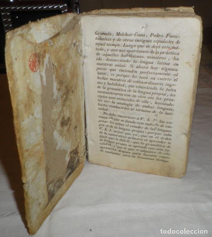 Libros antiguos: libro de gramatica latin español año 1800 encuadernado en pergamino - Foto 2 - 136645934
