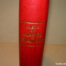 Libros antiguos: LIBRO JUEGO DE NAIPES ESPAÑOLES Y EXTRANJEROS Y JUEGO DE SOLITARIOS...FOURNIER.. Lote 136746074