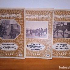 Libros antiguos: LOTE CATECISMO DEL AGRICULTOR Y DEL GANADERO. CALPE. N º 2. 1921, N º 3. 1921, N º 4. 1921, INTONSO.. Lote 136747394