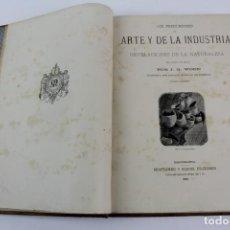 Libros antiguos: L-970. LOS PRECURSORES DEL ARTE Y DE LA INDUSTRIA DE J.G. WOOD,TRADUCIDA POR E.LEOPOLDO VERNEUIL.. Lote 136829382