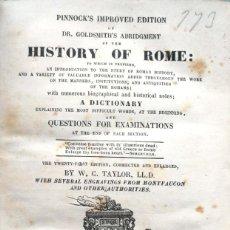 Libros antiguos: W. C. TAYLOR. HISTORY OF ROME. PARÍS, 1868. Lote 137113698