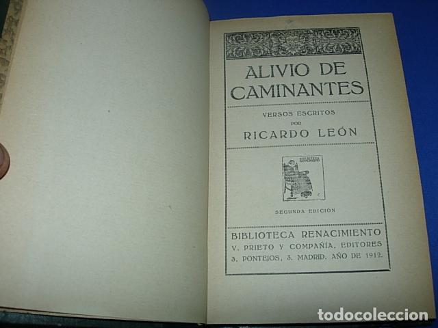 Libros antiguos: Alivio de caminantes----------LEÓN, Ricardo - Foto 2 - 137131162
