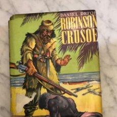 Libros antiguos: COLECCION JUVENIL CADETE -1.-ROBINSON CRUSOE-DANIEL DEFOE(13€). Lote 137194310