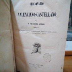 Libros antiguos: DICCIONARIO VALENCIANO - CASTELLANO. ABOGADO JOSÉ ESCRIG. COMPLETO EN 1 TOMO. PRIMERA EDICIÓN, 1851. Lote 137340062