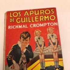 Libros antiguos: AVENTURASGUILLERMO-EDIT.MOLINO-RICHAL CROMPTON-2LOS APUROS DE GUILLERMO(12€). Lote 137420662