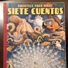Libros antiguos: BIBLIOTEC PARA NIÑS-3SERIES-7TMOS-CUENTOS Y FANTASIAS-2VOL-2SIETECUENTOS(9€). Lote 137422378