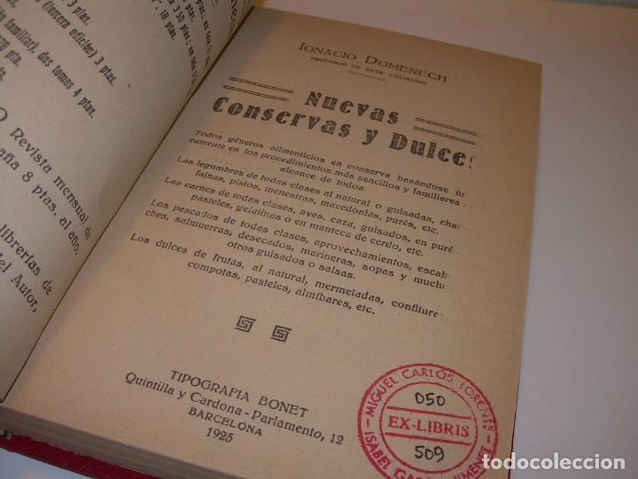 LIBRO DE NUEVAS CONSERVAS Y DULCES...AÑO 1925 (Libros Antiguos, Raros y Curiosos - Cocina y Gastronomía)