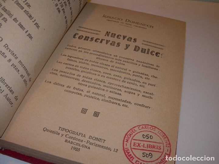 Libros antiguos: LIBRO DE NUEVAS CONSERVAS Y DULCES...AÑO 1925 - Foto 3 - 137446206