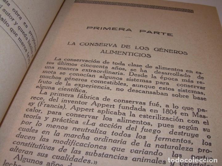Libros antiguos: LIBRO DE NUEVAS CONSERVAS Y DULCES...AÑO 1925 - Foto 4 - 137446206