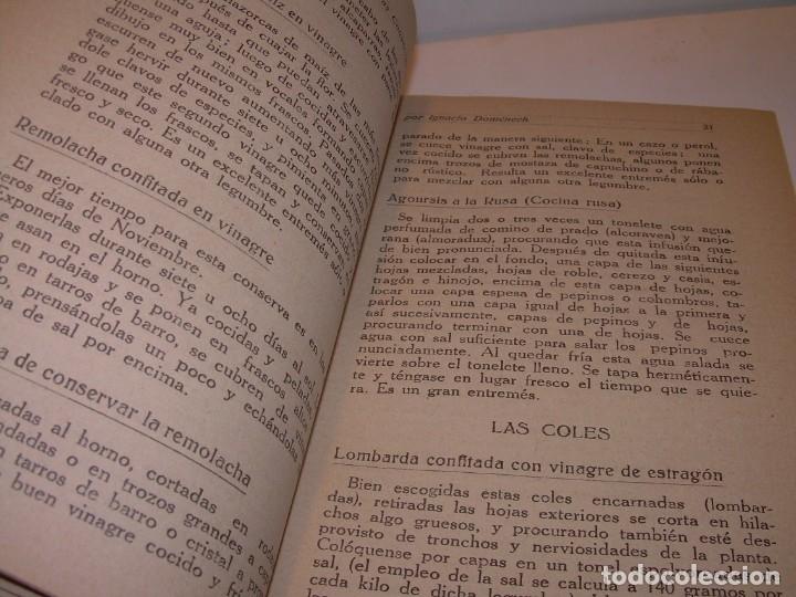 Libros antiguos: LIBRO DE NUEVAS CONSERVAS Y DULCES...AÑO 1925 - Foto 5 - 137446206