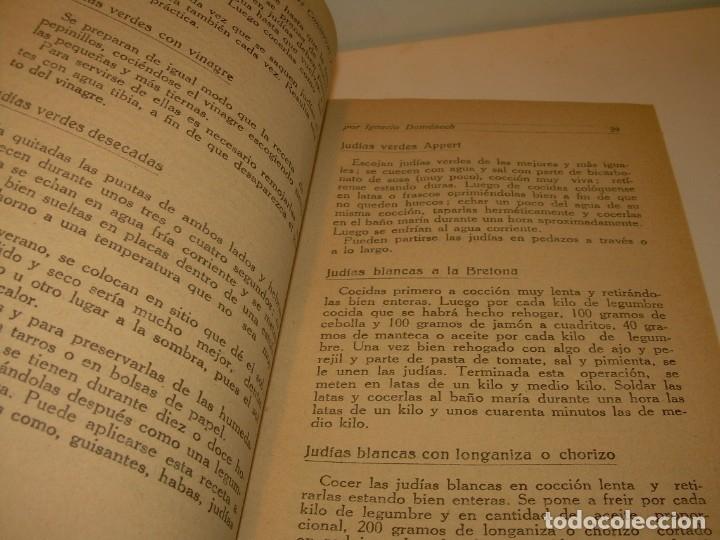 Libros antiguos: LIBRO DE NUEVAS CONSERVAS Y DULCES...AÑO 1925 - Foto 6 - 137446206