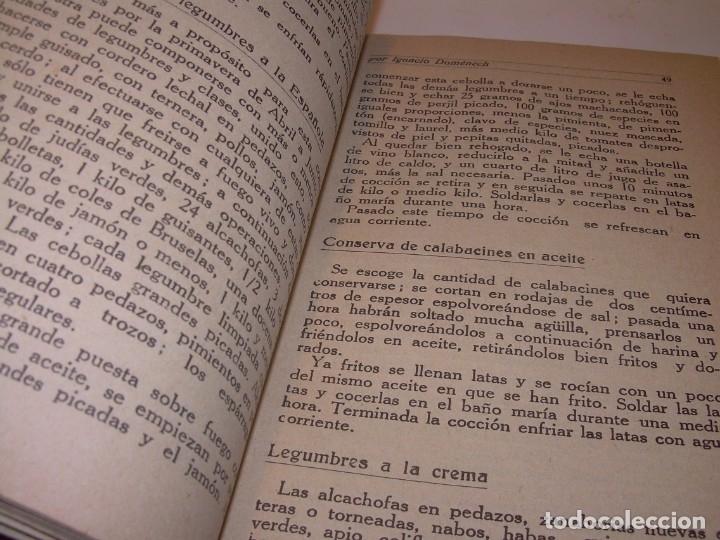 Libros antiguos: LIBRO DE NUEVAS CONSERVAS Y DULCES...AÑO 1925 - Foto 7 - 137446206
